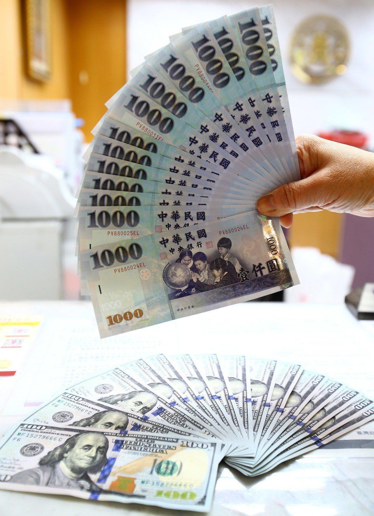 匯銀主管說,以近期來看,台幣匯率在30.5~30.8價位時,可以先買一些美元。圖...