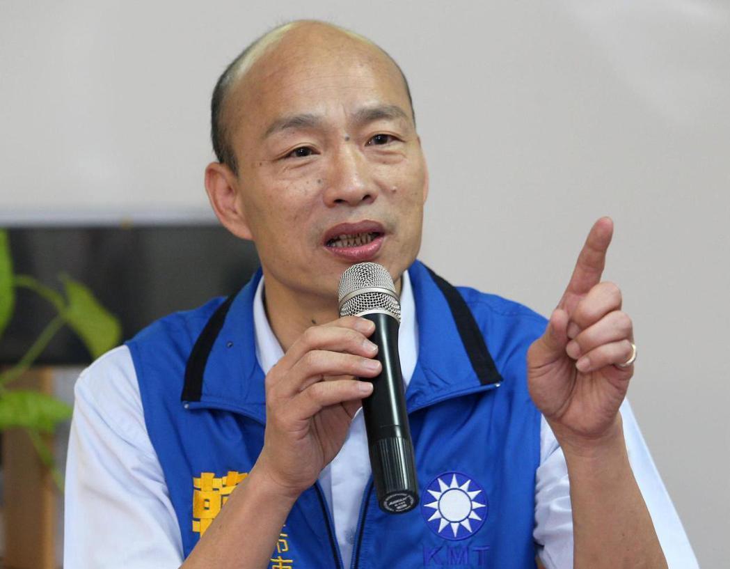 韓國瑜表示,他從沒迴避辯論,相信真理越辯越明。圖/聯合報系資料照片