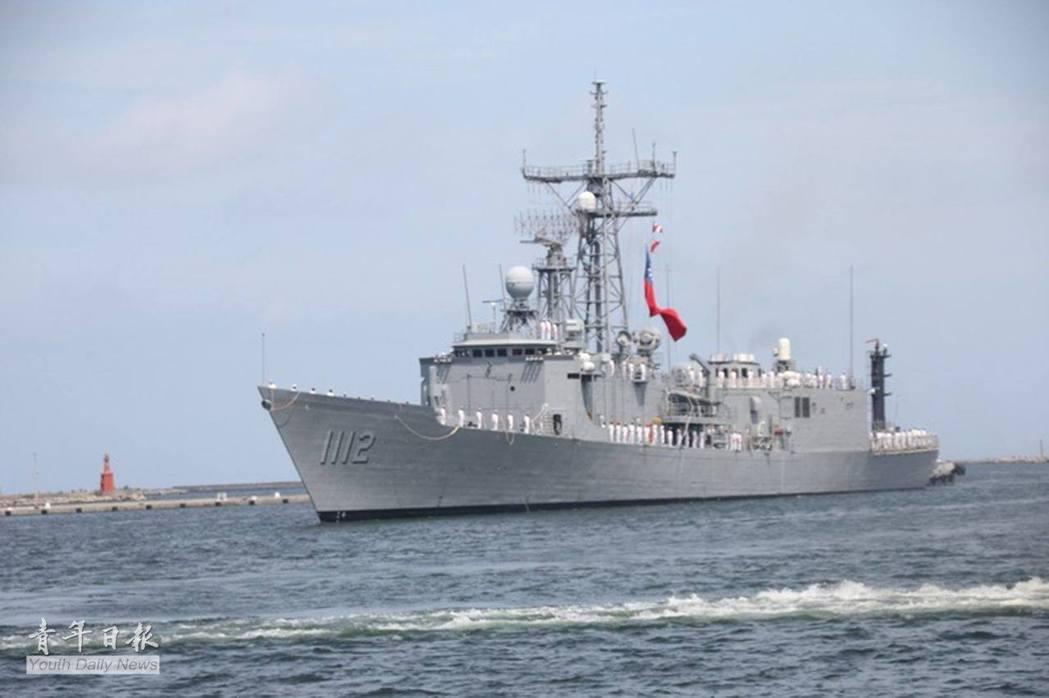去年五月返抵左營軍港的銘傳艦,當時艦上許多系統仍未就緒。圖/國防部青年日報提供