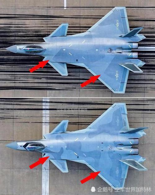 上面殲20使用瑞典迷彩,下面則使用圓滑色斑迷彩。圖/取自新浪軍事