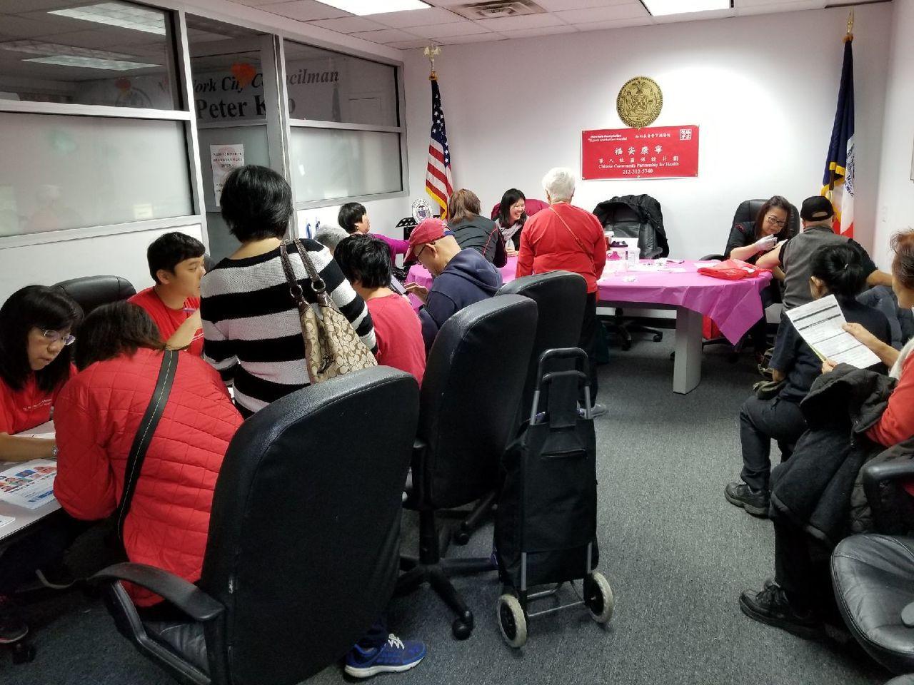 顧雅明辦公室疫苗注射活動。 記者賴蕙榆/攝影