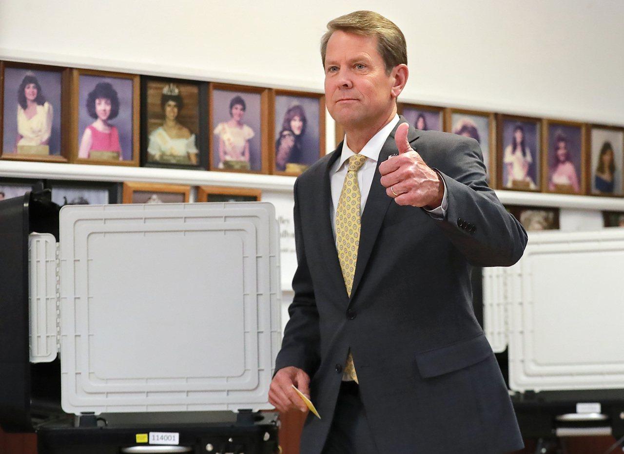 喬治亞州現任州務卿坎普。 美聯社