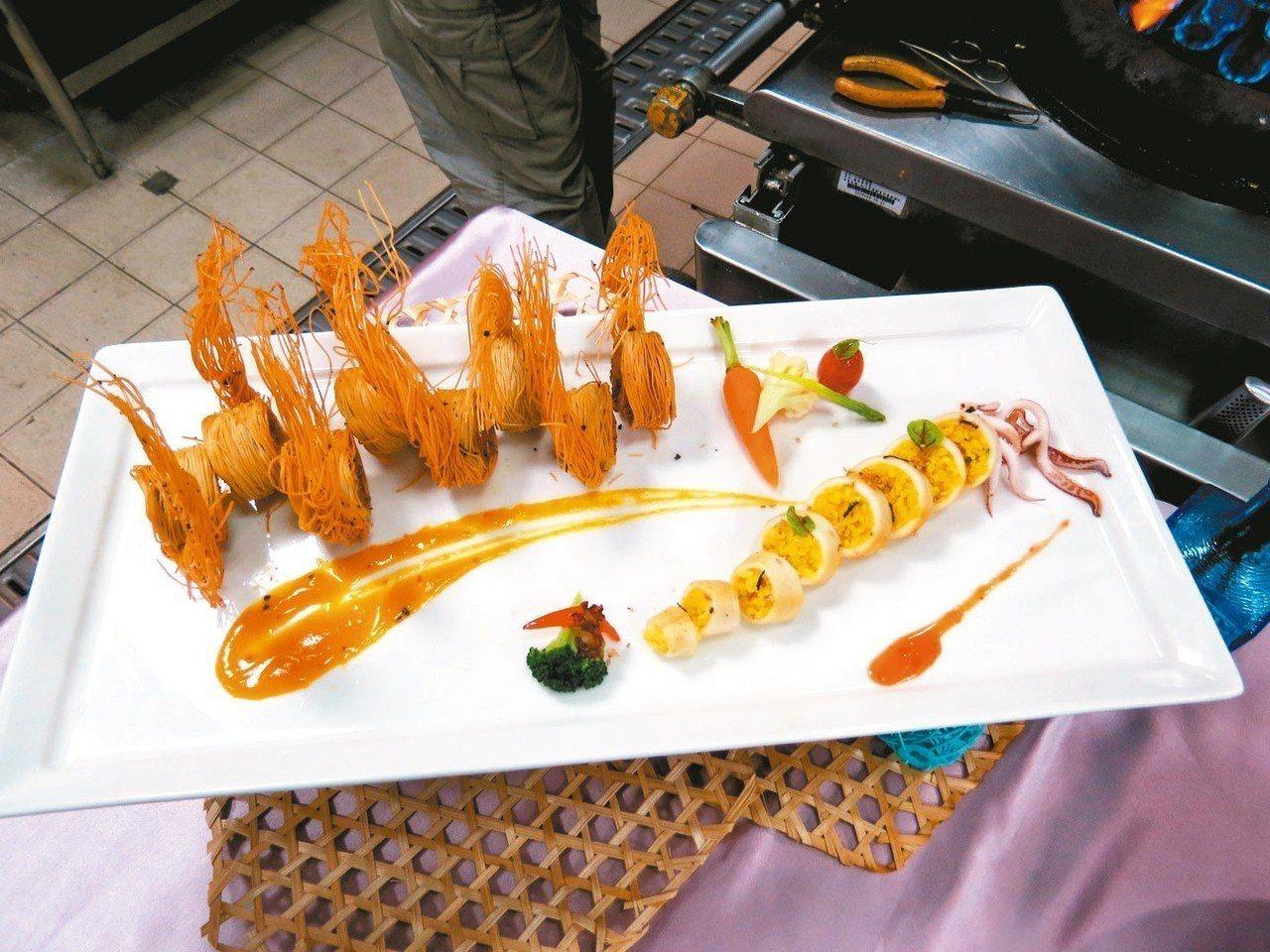 翠綠鮮花海大蝦 照片:城市科大/提供