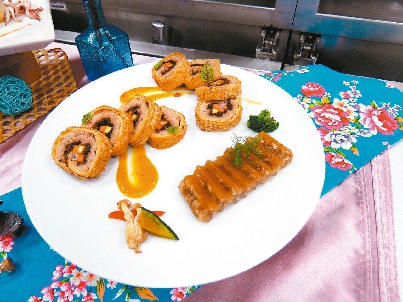 梅香腐皮豬肉捲佐桔醬 照片:城市科大/提供