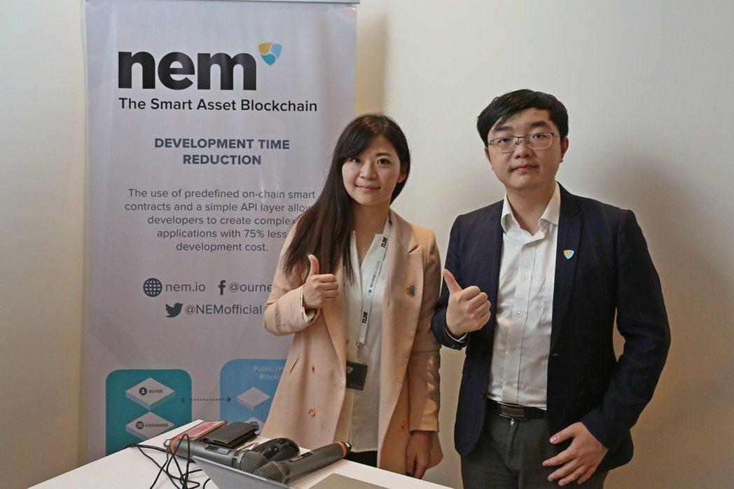 NEM台灣負責人方映涵(左)與中國負責人李世庚(右) 。 NEM/提供