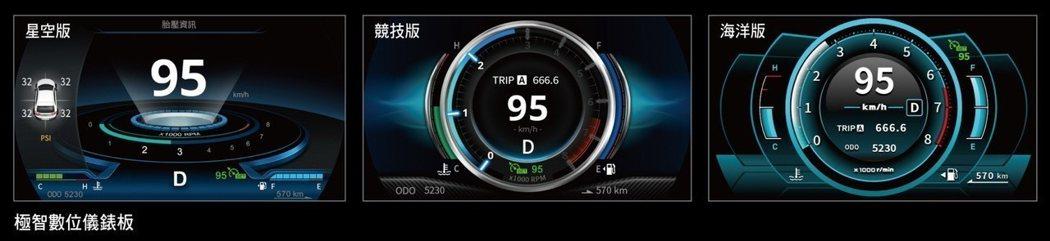 ZINGER搭載極智數位儀錶板。 圖/中華三菱提供