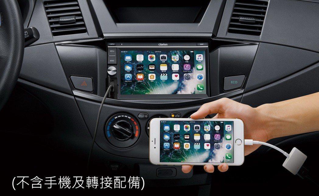 ZINGER為便利車主,新增手機鏡射功能。 圖/中華三菱提供