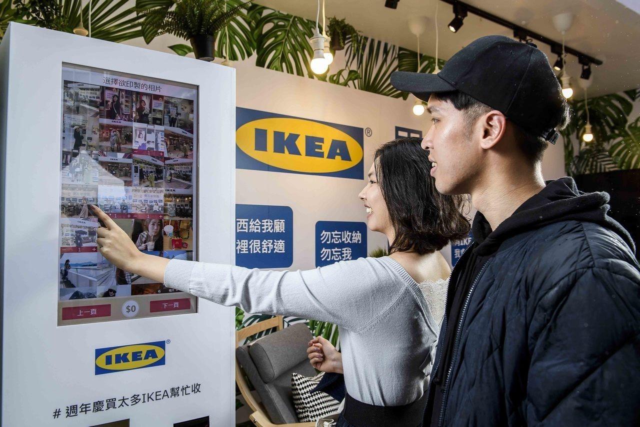 現場設置IG照片列印機,現場拍照打卡就能把可愛場景印出來帶回家。圖/IKEA提供