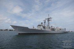 有拖曳聲納能發射魚叉 銘傳級巡防艦8日左營成軍