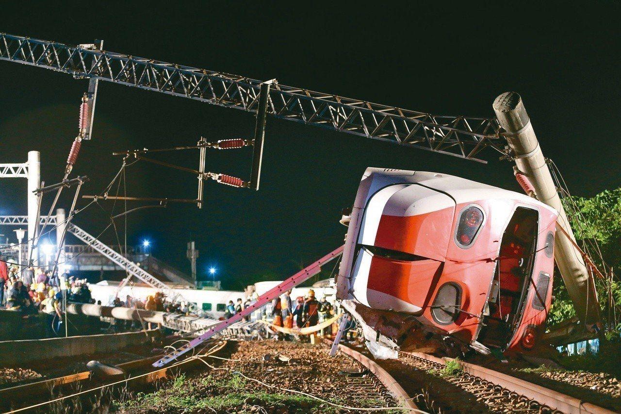 普悠瑪上月21日出軌翻車,造成18死。聯合報系資料照