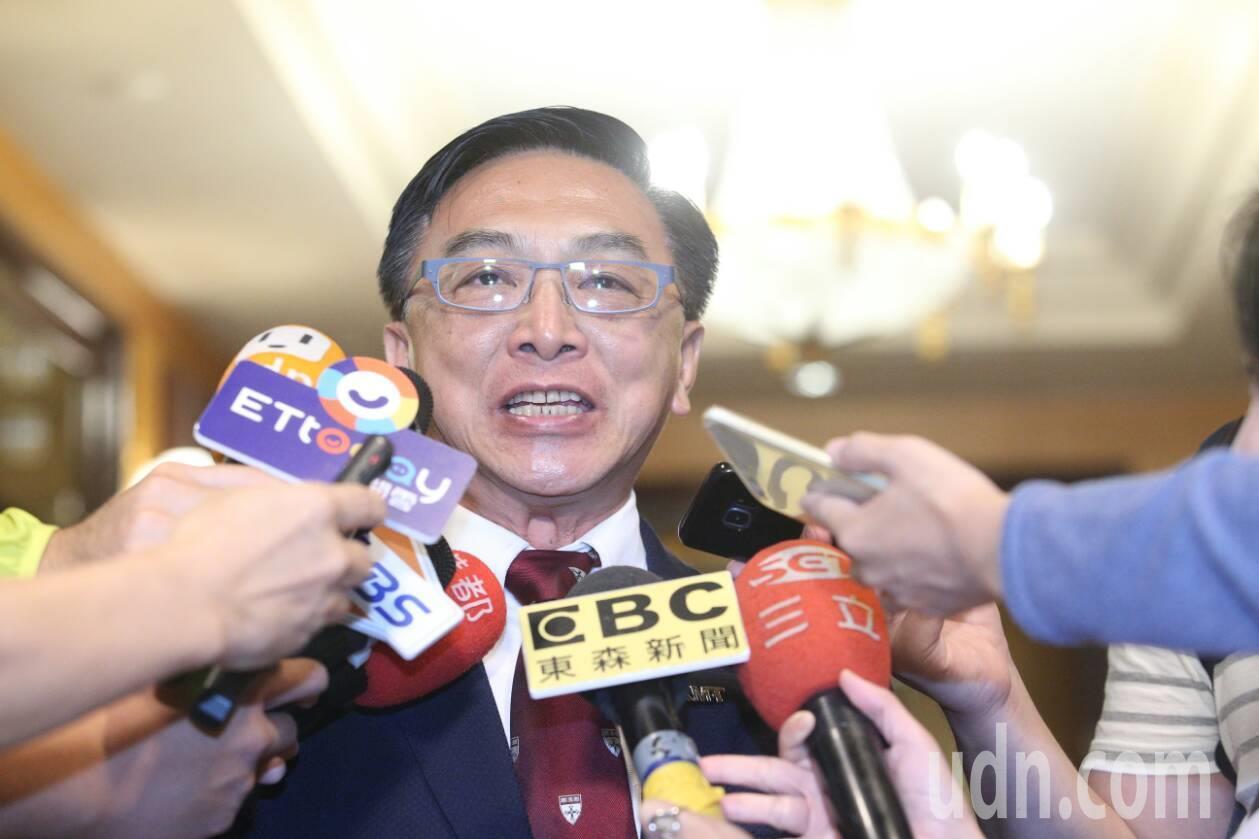 國民黨立委陳宜民表示韓國瑜被婉拒與會。聯合報系記者劉學聖/攝影