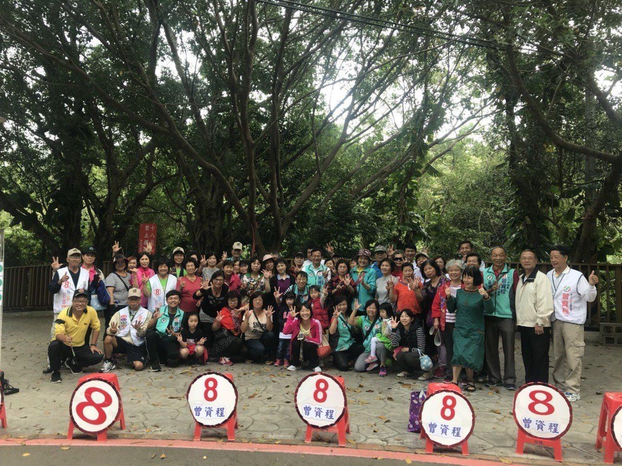 新竹市議員曾資程推出「8號戰舞」快閃吸眼球。圖/曾資程提供
