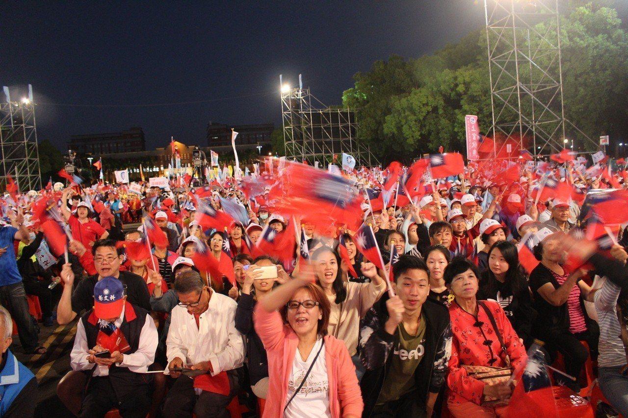 國民黨桃竹竹苗大會師,現場吸引眾多支持者。記者張雅婷/攝影