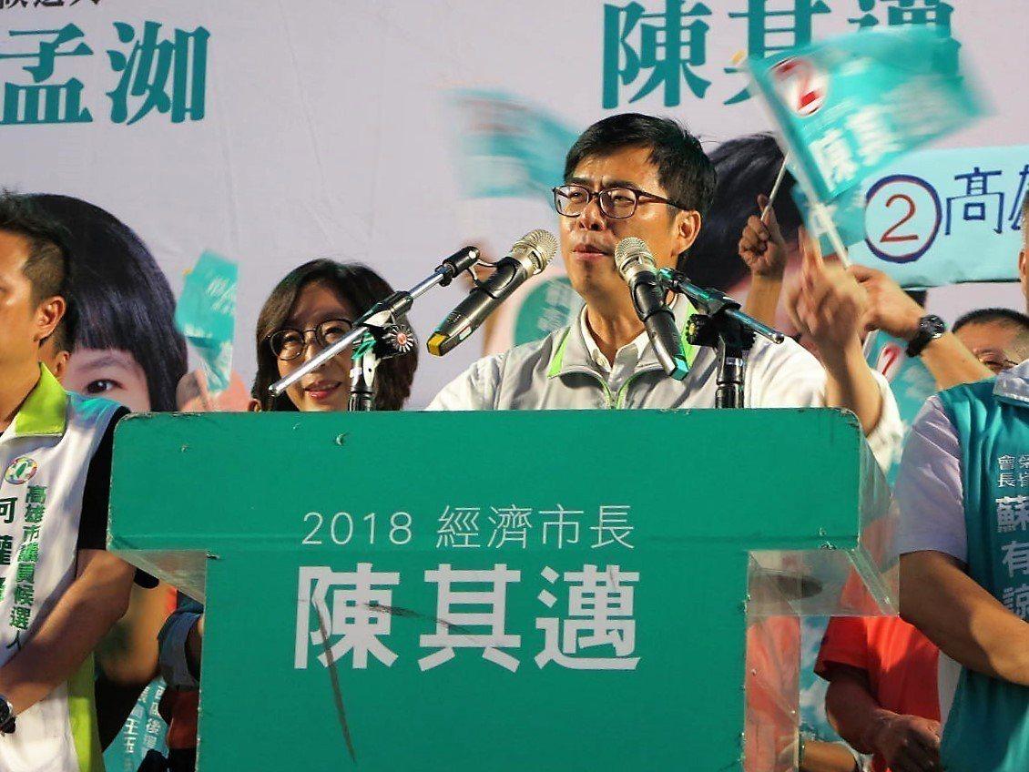 陳其邁批評韓國瑜連高雄人口有多少都搞不清楚。記者張媛榆/攝影