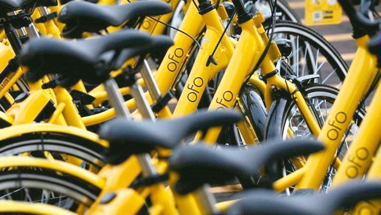 大陸共享單車品牌ofo。 (搜狐新聞)