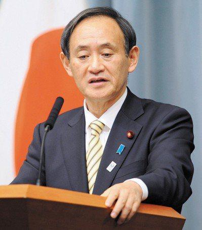 日本官房長官菅義偉。聯合報系資料照