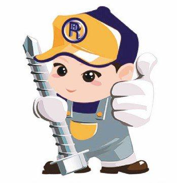 宏穎企業的鑽尾螺絲娃娃,代表對於自家螺絲品質的保證。 宏穎/提供