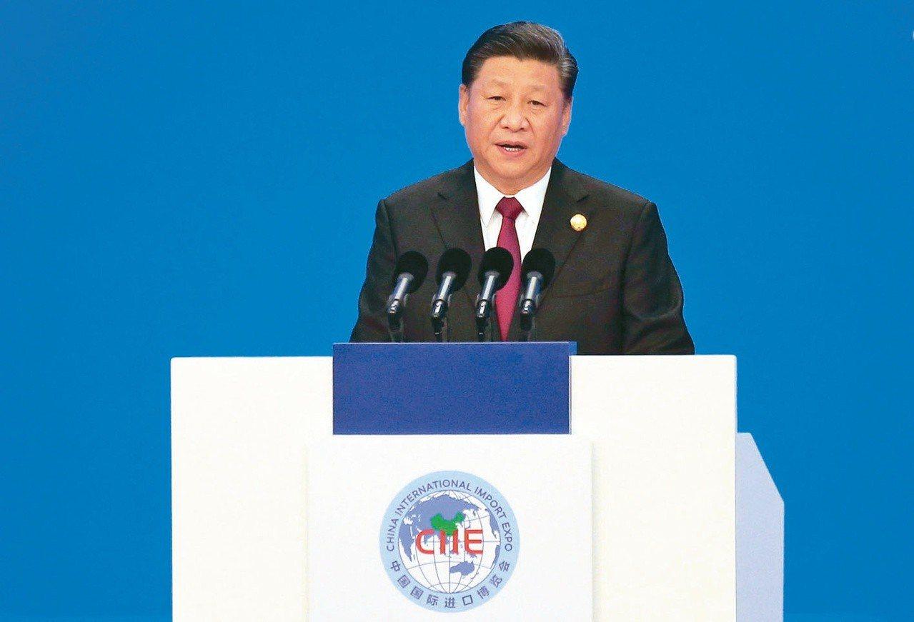 首屆中國國際進口博覽會在上海開幕。大陸國家主席習近平發表演講,表示中國將進一...