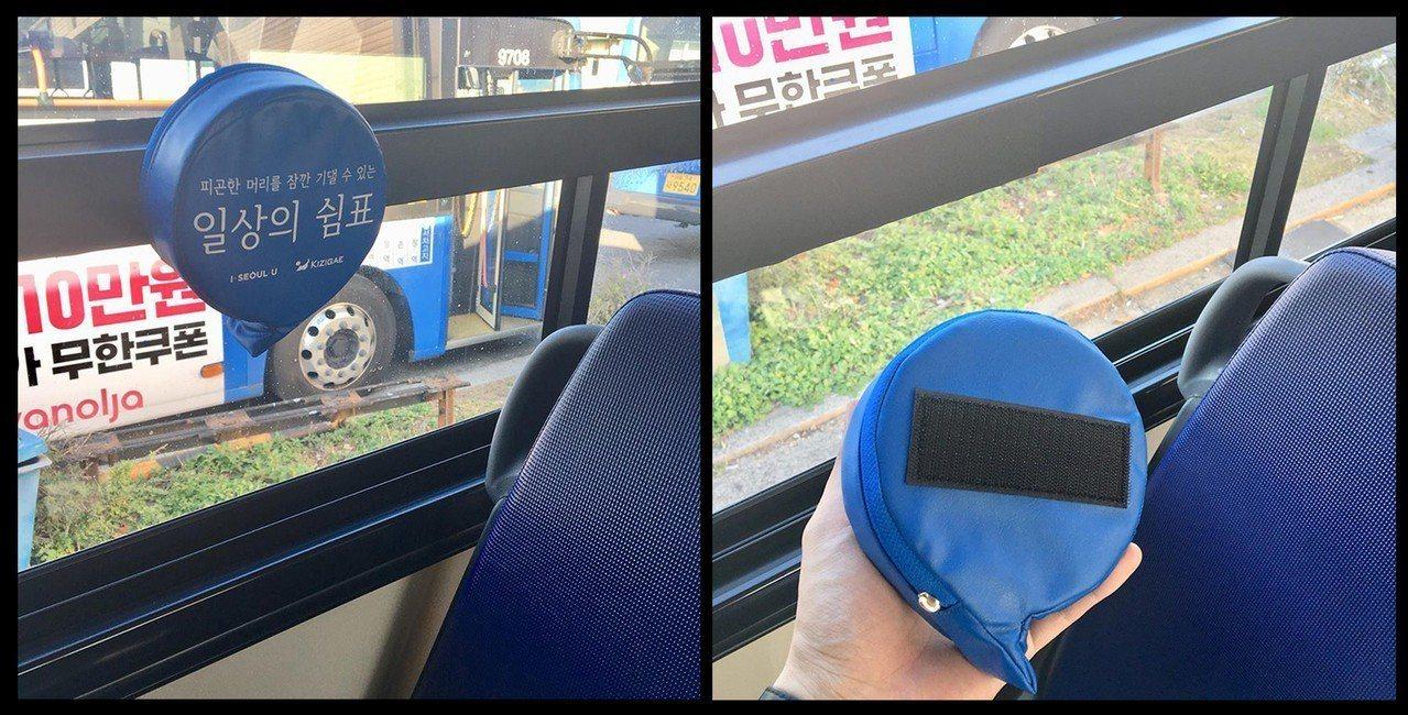 為了保護公車乘客頭部,南韓的民間團體發起「日常的逗號」計畫。圖片來源/일상의쉼표