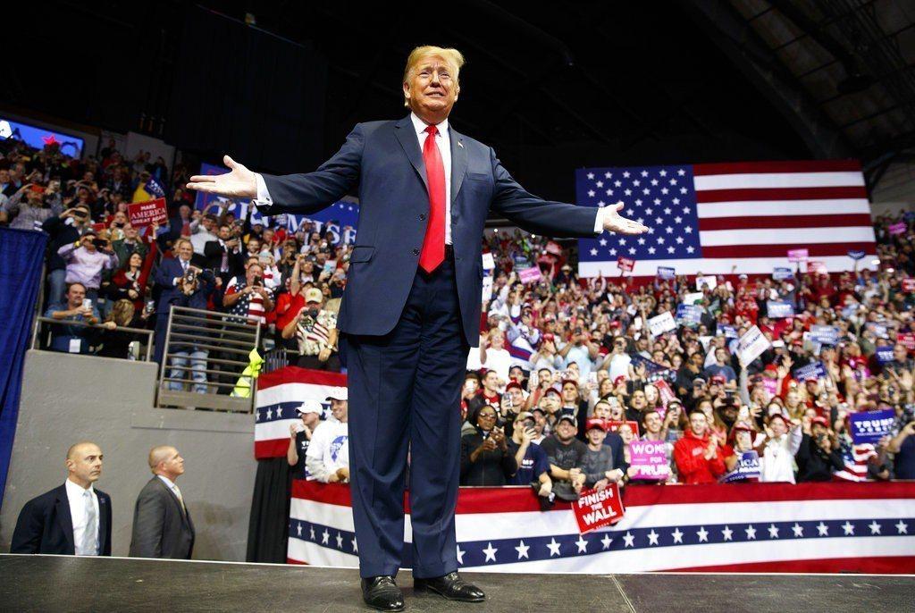 美國期中選舉6日開票,圖為美國總統川普。 美聯社