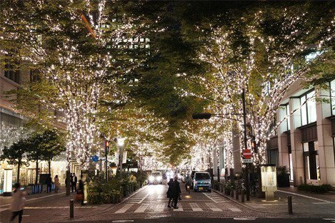 ▲日本冬季點燈活動-丸之內彩燈節。(圖/丸の内イルミネーション)