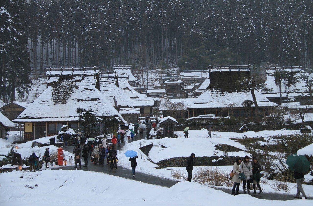 ▲日本冬季點燈活動-京都美山町合掌村。(圖/森之京都DMO)