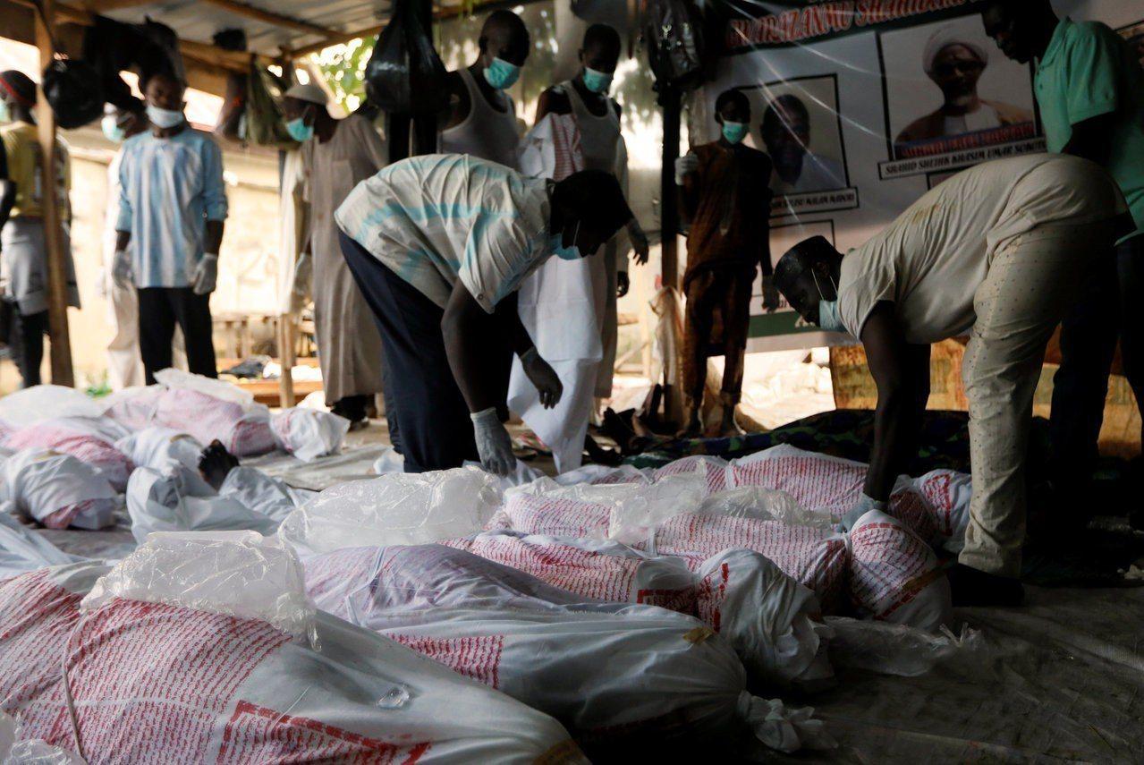 上周奈及利亞首都阿布加市發生抗議民眾遭安全部隊開槍致死事件,圖為奈國伊斯蘭運動人...