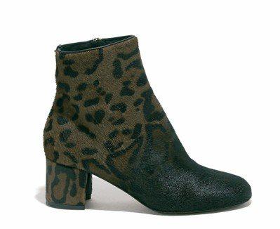 NOCETO豹紋牛毛短靴,43,900元。圖/Ferragamo提供