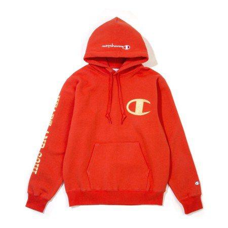 FIVE CM與Champion聯名系列耶誕節版袖連帽上衣,7,499元。圖/I...