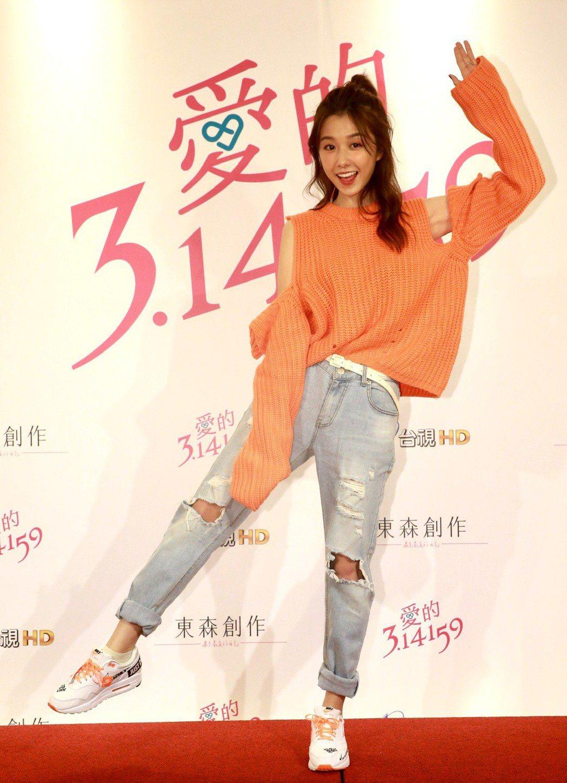 「愛的3.14159」殺青酒會,演員邵雨薇。記者黃義書/攝影