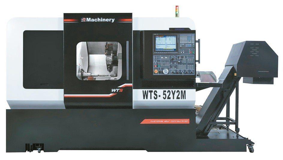 洽群機械發表的WTS-52Y2M車銑複合機,具有極大的加工彈性。 洽群/提供