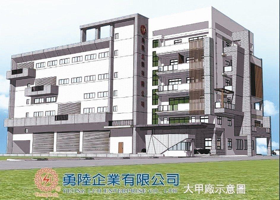 勇陸企業大甲廠─現代化樓層式設計示意圖。 勇陸公司/提供