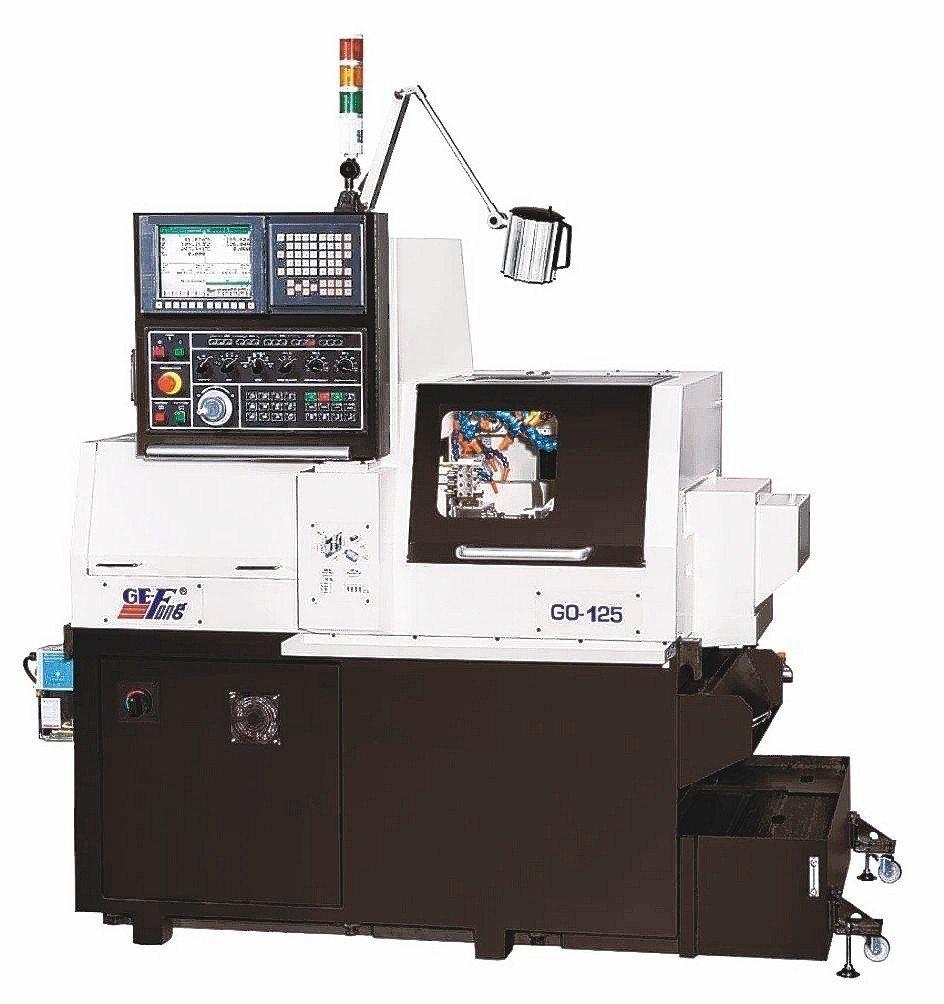 GO-125走心櫛式CNC精密車床加工能力強大。 錡夆/提供