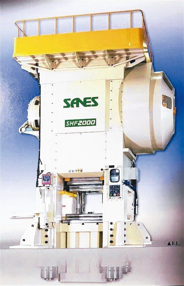 申琦SANES─SHF系列精密型溫、熱鍛造沖床,實現超剛性、高精密、低噪音的溫、...