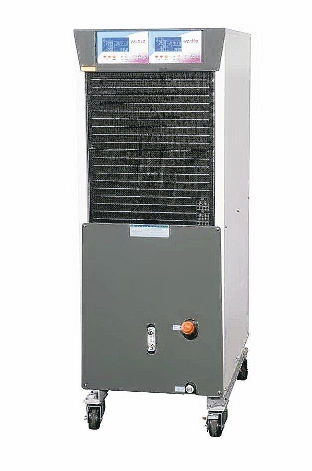 單機雙溫控冷卻機「一機抵二機用」,有效降低客戶成本支出與占用空間。 威士頓/提供