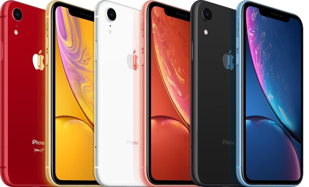 iPhone XR共有黑、白、黃、藍、珊瑚、PRODUCT RED紅色特別版等6...