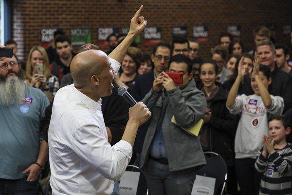 新州國會參議員布克(Cory Booker)有志參加2020總統大選。 聯合報系...