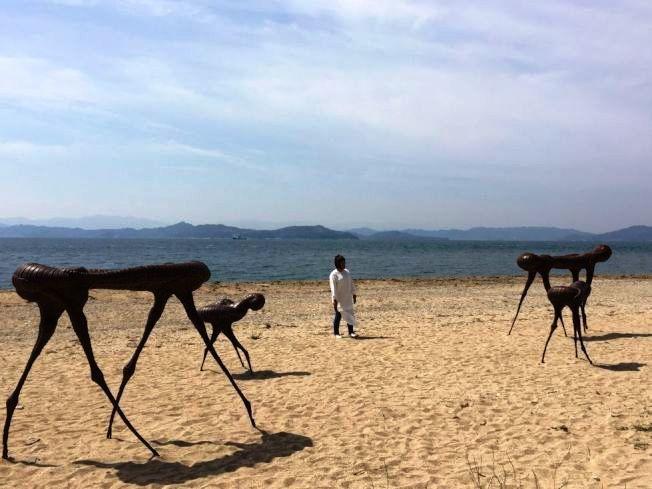 香川縣藝術季招徠文青,圖為2016年伊東敏光作品 。圖/香川縣觀光協會提供