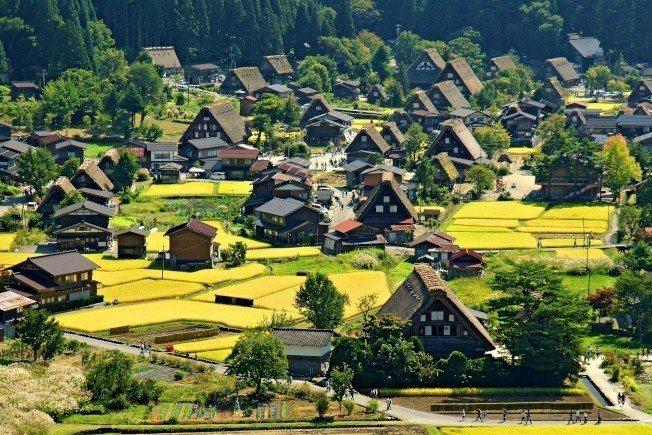 合掌村原是一個小村落,但每年吸引眾多遊客前往。圖/聯合報有行旅提供