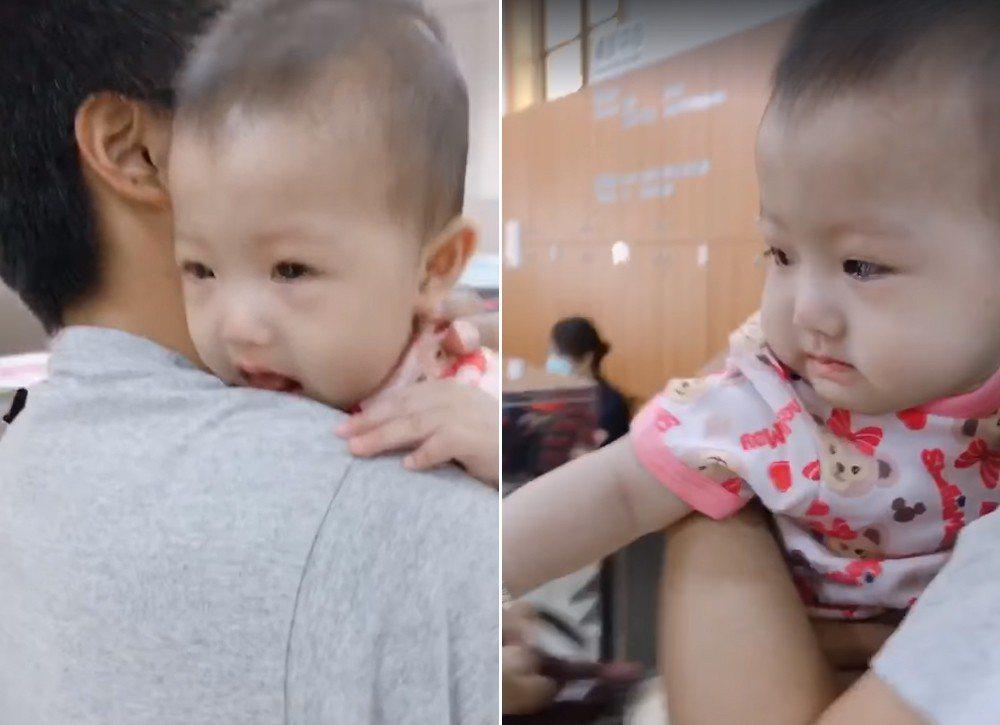 一對父母帶著6個月大女兒打預防針,但女嬰卻發出疑似國罵的聲音,聲音清晰讓父母聽了...