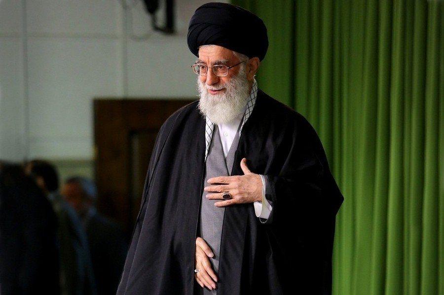 伊朗最高領袖哈米尼表示,美國總統川普的政策在世界各地引起反對聲浪。(圖取自哈米尼...