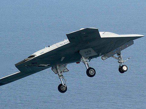 被日媒舉出的X47B無人機。(多維)
