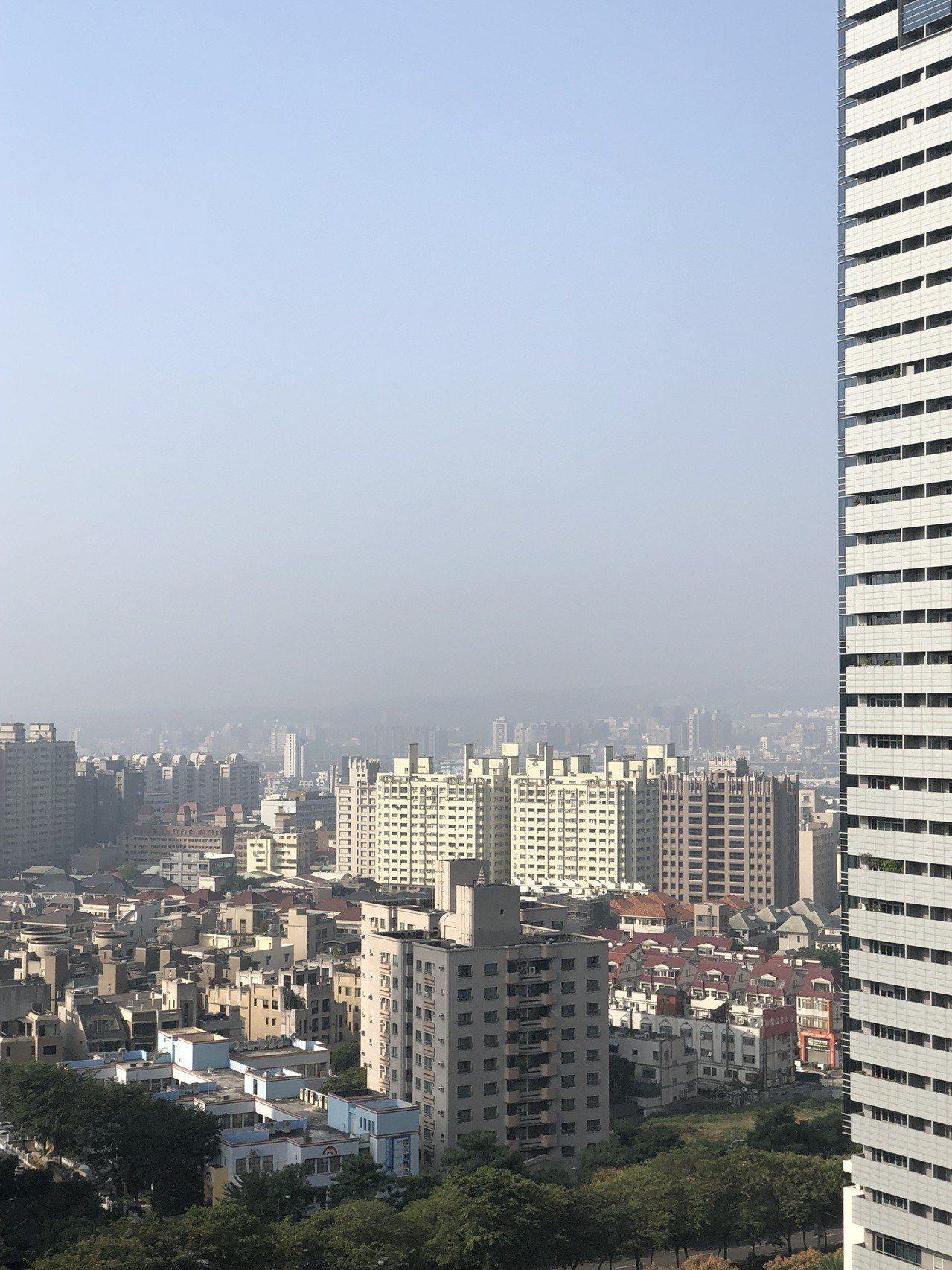 台中市一早空氣品質不佳,一名醫師把天空照貼進LINE群組裡提醒大家注意。圖/取自...