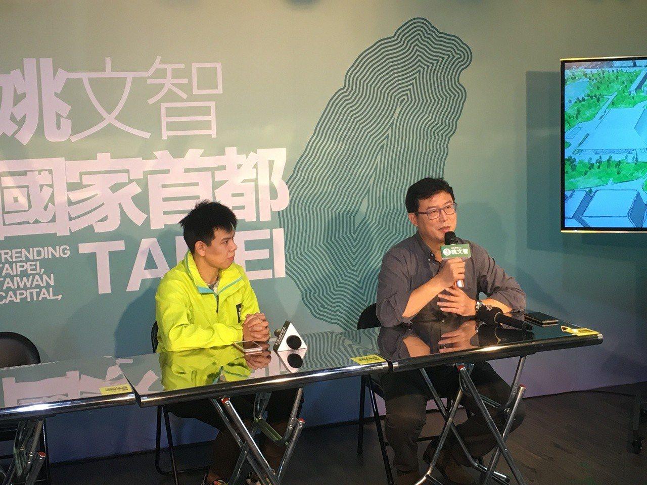 民進黨台北市長候選人姚文智(右)。記者張世杰/攝影