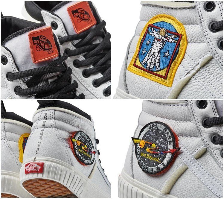 Sk8-Hi 46 MTE DX高筒鞋白色款以太空人及航海家1 & 2號任務徽章...
