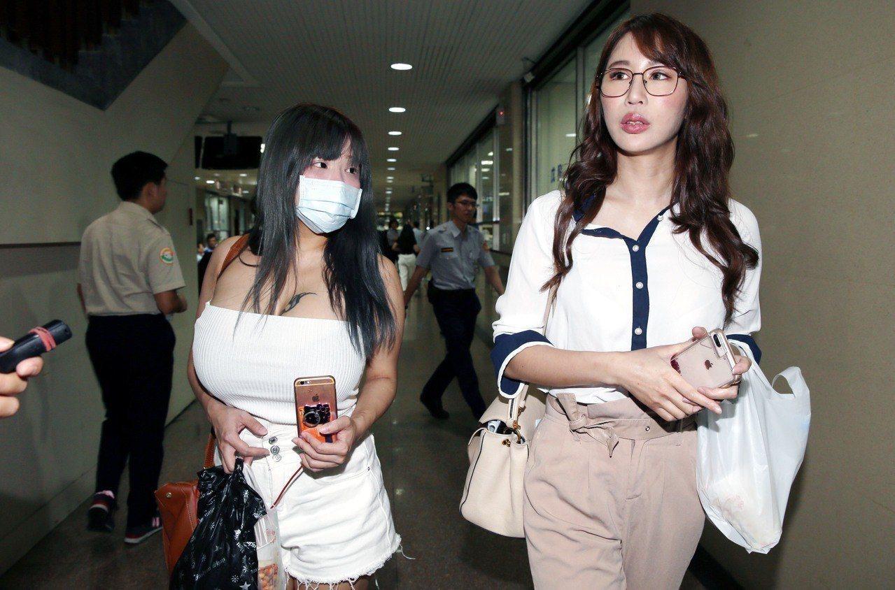 辛尤里(右)遭網友罵下賤,向法院提告。本報資料照片