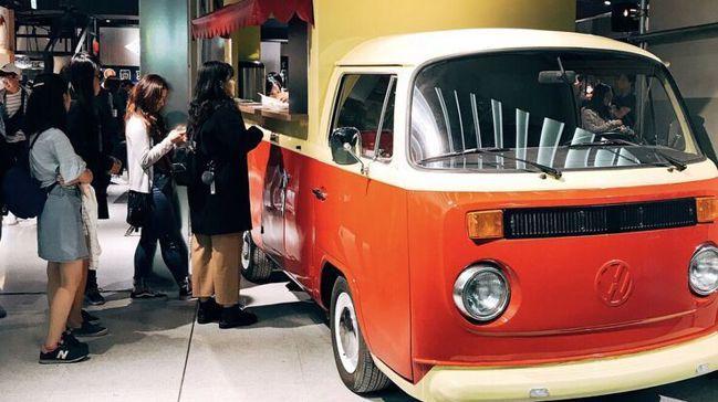 「旺萊甜爆漿車輪餅」胖卡餐車。 圖/誠品提供
