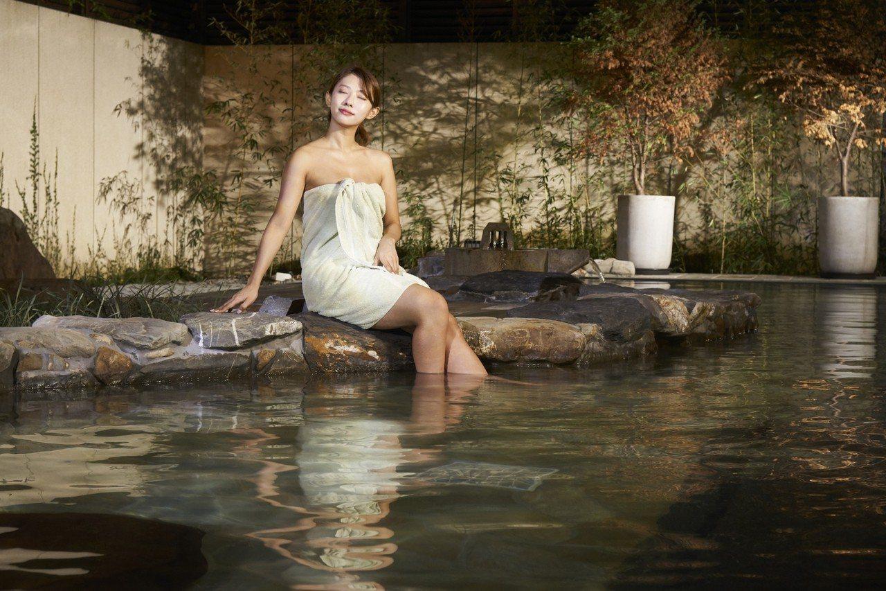 宜蘭力麗威斯汀可免費享受露天風呂的大湯。圖/宜蘭力麗威斯汀提供