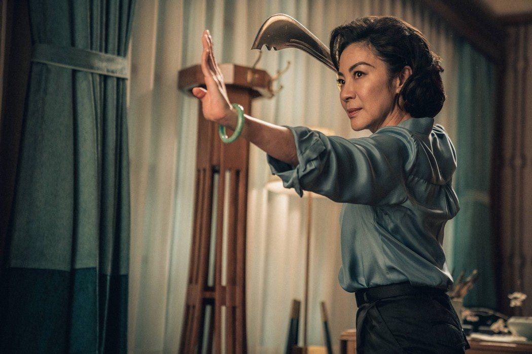 楊紫瓊在新片有精彩武打戲。圖/華映娛樂提供