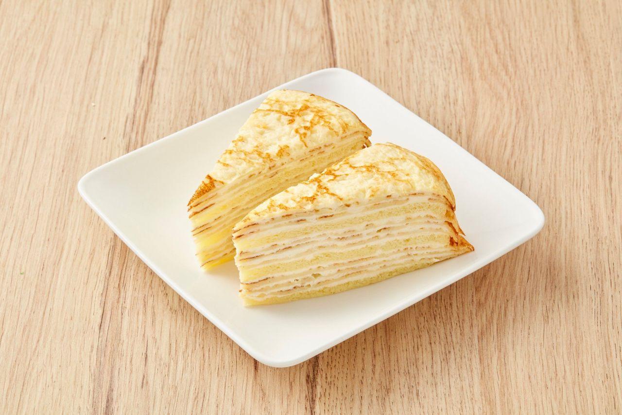 北海道千層蛋糕(2入/170g/盒)99元。圖/全聯提供